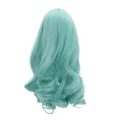 Gradient Wavy Curly Hair Wig Making for 18inch American Girl Doll DIY Repair