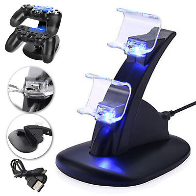 Dual USB Charge Dock Stand Charger Holder For Sony Playstation 4 PS4 Controller