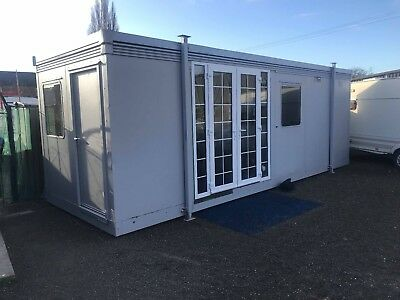 Metal Stackable Insulated Office / Cabin Insulated Newly Refurbished