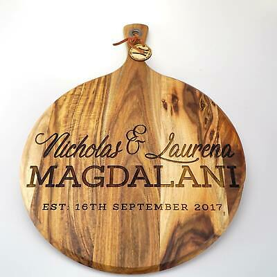 Custom Personalised Cheese Board Laser engraved wedding engagement gift