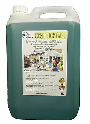 Conservatory Care + Cleaner. 5L - Safe to use on all surfaces - UVPC restorer