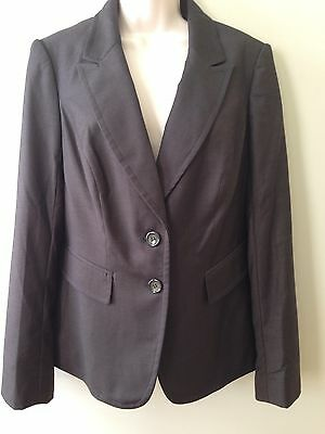 The Limited 2 button dark brown lined stretch jacket blazer NWT $158 size 12