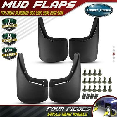 Mud Guards Flaps For 2007-2014 Chevy Silverado 1500 2500 3500 Hd Front /& Rear