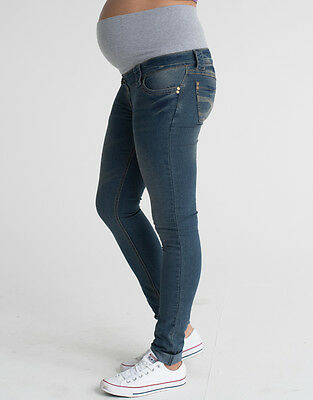 Skinny Over Bump Maternity Jeans, Women's Stretchy Pregnancy Denims, Slim fit