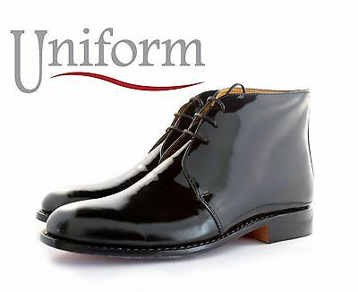 Black Patent or Plain Leather George boots for Mess dress wear.