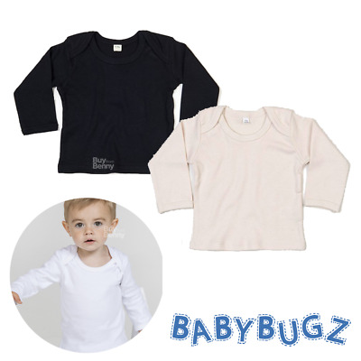 Baby Envelope Long Sleeve T-Shirt 100% Soft Organic Cotton Top Tee Girl Boy Gift