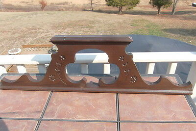 Vintage Eastlake Pediment with Carved Flowers on Both Sides