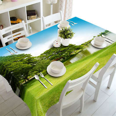 3D Tablecloth Table Cover Cloth Scenery Party Polyester Universe Earth Night 103