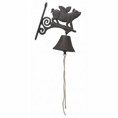 Cast Iron Flying Pig Bell by Upper Deck Metalware Collectibles