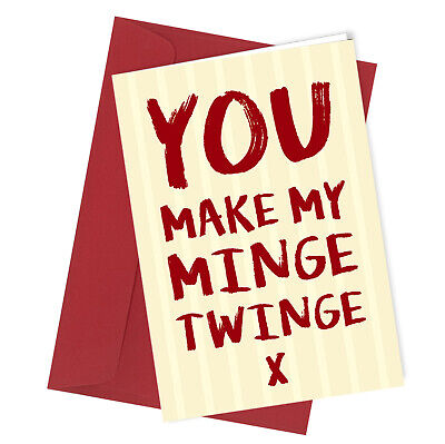 #174 I LOVE YOU FROM MY HEAD Valentines Day Birthday Card Adult Rude Funny Joke