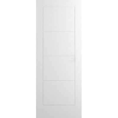 Internal White Doors LADDER Moulded Flush Smooth Primed Premdor Hollow Wood Door