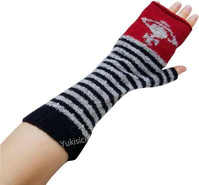Vivienne Westwood Japan Fingerless Gloves Arm Warmers Orb Stripes-Wool-NWT