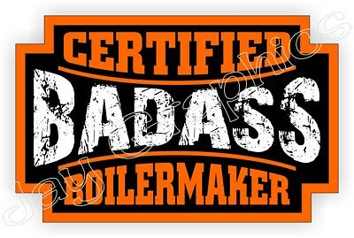Badass BOILERMAKER Hard Hat Sticker | Safety Helmet Decal Label Foreman Laborer