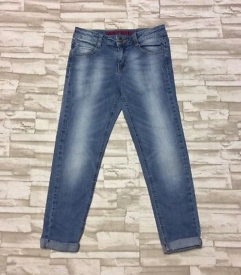 ON TREND Arizona Girls Size 14 Skinny Crop Cuffed Jeans $30 Retail