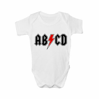 Funny ABCD Babygrow - Funny ACDC Inspired Babies Clothing