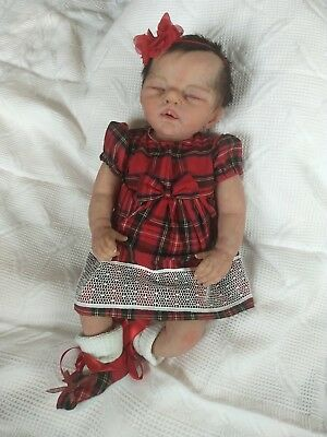 Beautiful REBORN FULL BODY SOLID SILICONE baby girl with DRINK WET system