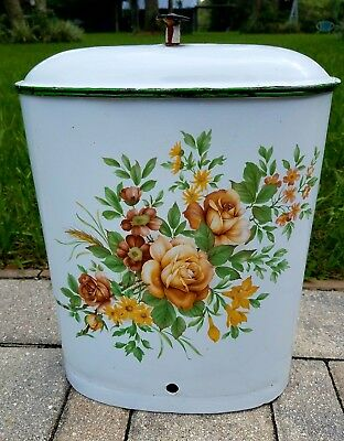 Antique lavabo enamelware fountain graniteware canister French cottage vintage