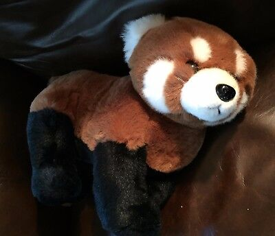 Vintage K&M International Red Panda stuffed animal in excellent condition