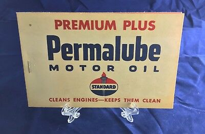 Standard Oil Permalube Oil Change and Lubrication Tabs