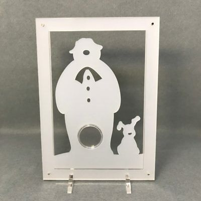 Snowman and Snowdog 50p Coin Display, Perspex Coin Stand. For Isle of Man Chr...