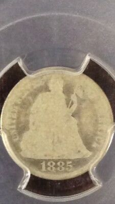 1885 s Seated Liberty Dime 10c PCGS FR2 RARE!