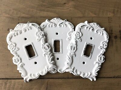Shabby Chic Light Switch Cover, Cast Iron hand painted switch plate, Pick color