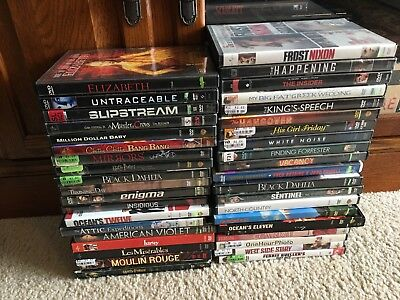 Lot Of 40 Used DVDs Horror Thriller Drama Classics Musicals Movies Films