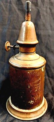 Antique French Pigeon Brass Whale Oil Lamp 1885 Patent