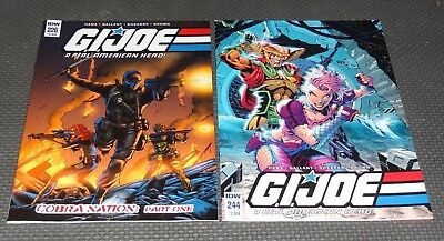 G.I. JOE #226 and #244 - 1st Appearance Dawn Moreno Female Snake Eyes IDW