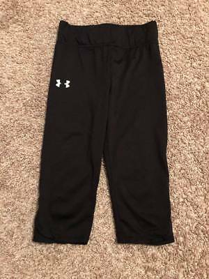 Toddlers Under Armour All Season Gear Thick Sweatpants Size 6 Solid Black