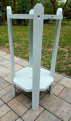 Vintage Mission style taboret table plant stand wood Arts & Crafts chippy paint