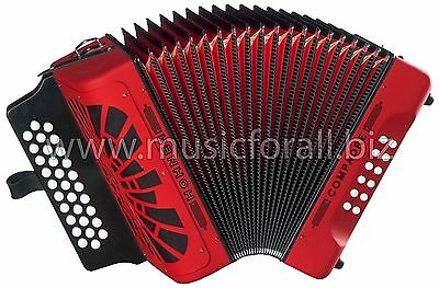 Hohner Compadre FBE Red Acordeon MAKE OFFER Accordion FA +GigBag_T-Shirt_BackPad