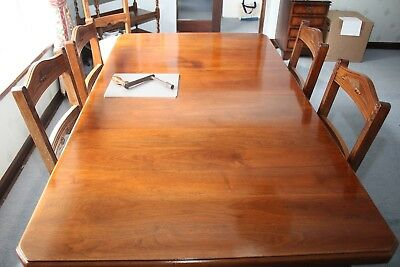 Antique  (c1840) Walnut Dining Table and 6 chairs - extendable,