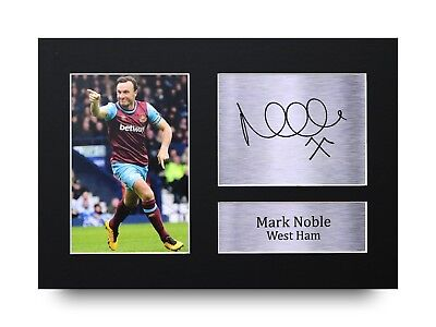 Mark Noble Signed A4 Printed Autograph West Ham United Print Photo Picture Displ