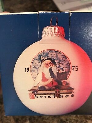 Norman Rockwell's 1st limited edition 1975 Christmas Ornament