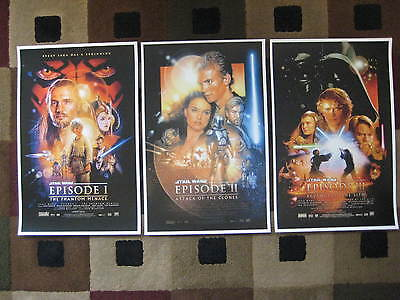 "Star Wars Phantom Menace (11"" x 17"")Movie Collector's Poster Prints ( Set of 3 )"