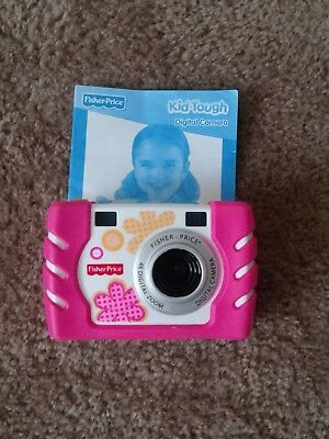 Fisher Price Mattel Kid Tough Digital Camera. Pink 4X Digital Zoom
