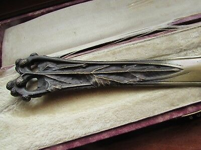 Coupe Papier Art Nouveau Bronze Patine Decor Chardons Jugendstil Paper Knife