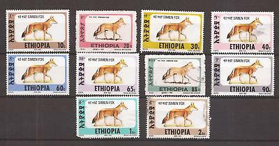 ATHIOPIEN ( ETHIOPIA )   -   LOT OF STAMPS - Foxes