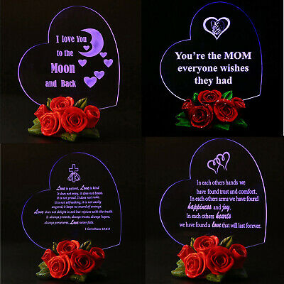 Valentines Day Gift for Her Women Girls Ladies💘Love LED Light Gifts Home Decor