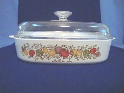 Vintage Corning Ware Spice of Life 2.5  Qt Casserole Dish A-10-B W/ Lid A12C