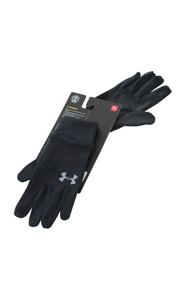 Men Under Armour Liner Glove 1282763-001 Black  Steel