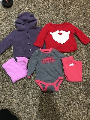 Baby girl clothes lot 6-12 months 5 pieces Baby Gap, Gymboree, Roots
