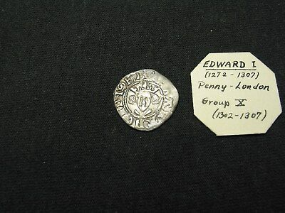 English (U.K.) Hammered Silver Penny Edward I 1272-1307 London Mint-From Stack's