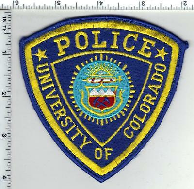 University of Colorado Police Uniform Take-Off Shoulder Patch from the 1980's