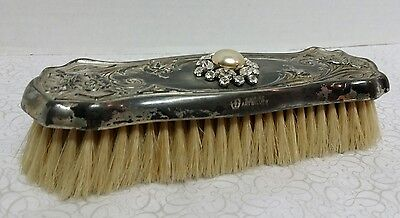 Beautiful Vintage 1940's Empire Art Silver Large Brush for Clothing / Hair and M