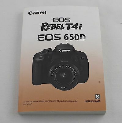"Canon Genuine EOS Rebel T4i / 650D Camera Instruction / Manual / Guide ""Spanish"