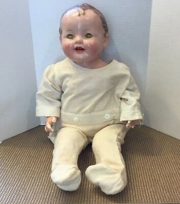 """Antique Effanbee Lovums 18"""" Doll Composition Cloth 1283558 OPEN AND CLOSE EYES"""