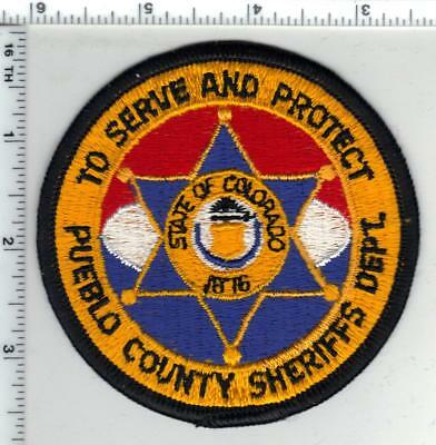 Pueblo County Sheriff (Colorado) Shoulder Patch - new from the 1980's