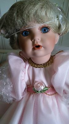 "FAITH LEARNING TO FLY Porcelain Doll by Donna RuBert & Kelly RuBert 14"" NEW #502"